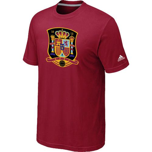 Adidas Spain 2014 World Short Sleeves Soccer T-Shirt Red