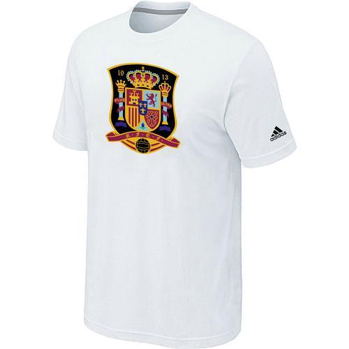 Adidas Spain 2014 World Short Sleeves Soccer T-Shirt White