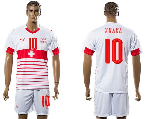 Switzerland #10 Xhaka Away Soccer Country Jersey