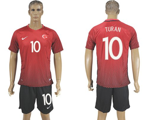 Turkey #10 Turan Home Soccer Country Jersey
