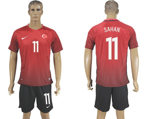 Turkey #11 Sahan Home Soccer Country Jersey