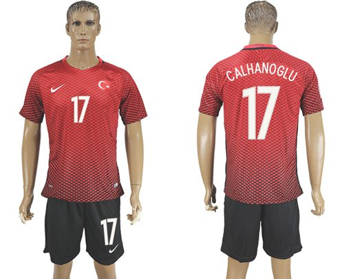 Turkey #17 Calhanoglu Home Soccer Country Jersey