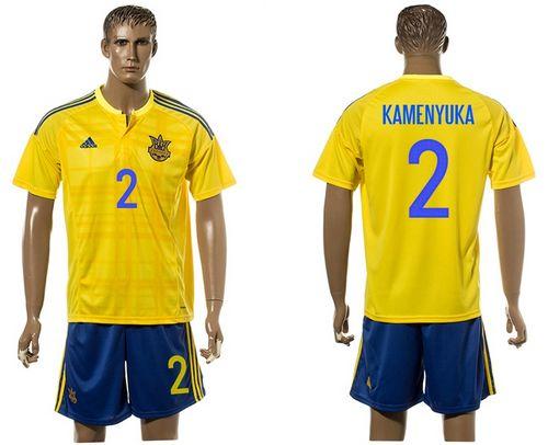Ukraine #1 Kamenyuka Home Soccer Country Jersey