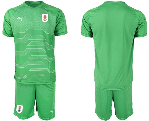 Uruguay Blank Green Goalkeeper Soccer Country Jersey