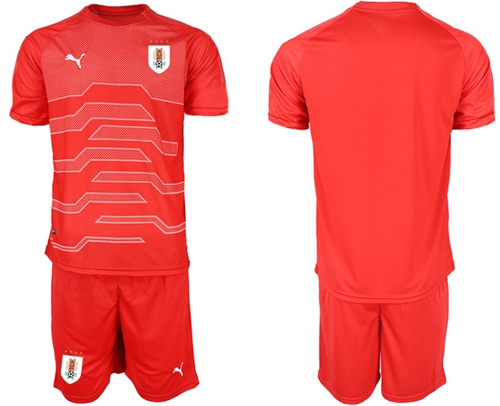 Uruguay Blank Red Goalkeeper Soccer Country Jersey
