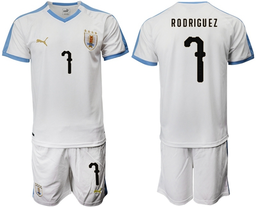 Uruguay #7 Rodriguez Away Soccer Country Jersey