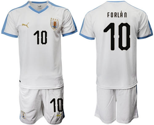 Uruguay #10 Forlan Away Soccer Country Jersey