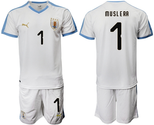 Uruguay #1 Muslera Away Soccer Country Jersey