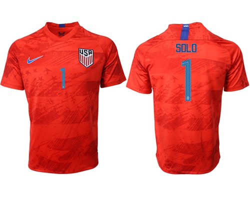 USA #1 Solo Away Soccer Country Jersey
