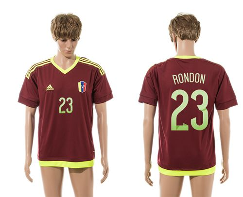 Venezuela #23 Rondon Home Soccer Country Jersey