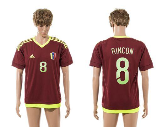 Venezuela #8 Rincon Home Soccer Country Jersey