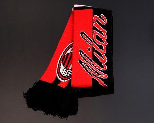 AC Milan Soccer Football Scarf Red