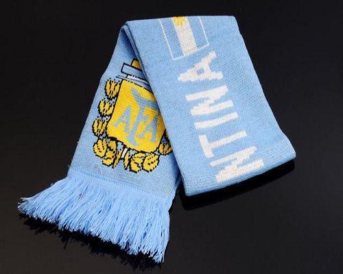 Argentina Soccer Football Scarf Blue