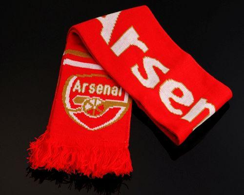 Arsenal Soccer Football Scarf Red