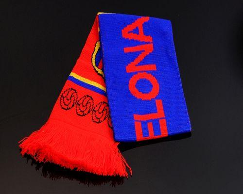Barcelona Soccer Football Scarf Red & Blue