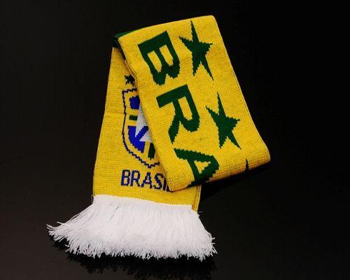 Brazil Soccer Football Scarf Yellow