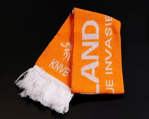 Holland Soccer Football Scarf Orange