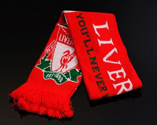 Liverpool Soccer Football Scarf Red
