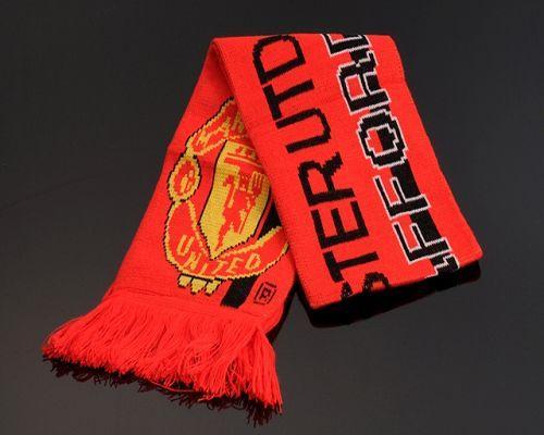 Manchester United Soccer Football Scarf Red