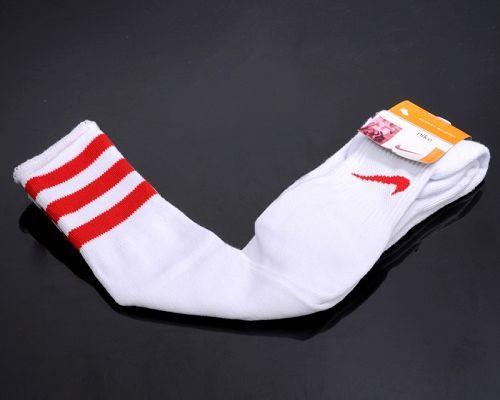 Nike Soccer Football Sock White & Red Stripe