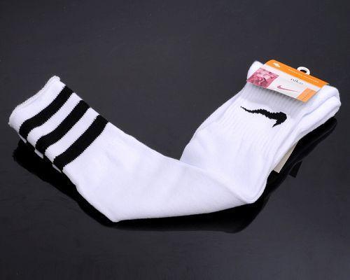 Nike Soccer Football Sock White & Black Stripe