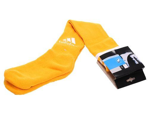 Adidas Soccer Football Sock Yellow & White Font