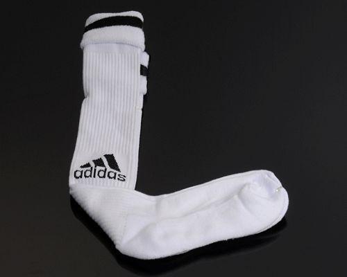 Adidas Soccer Football Sock White & Black Font