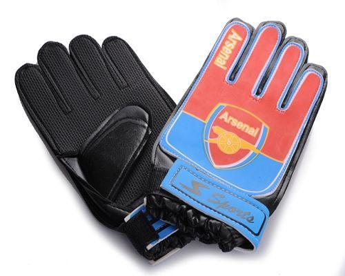Arsenal Soccer Goalie Glove Blue & Red