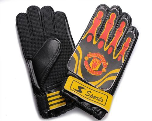 Manchester United Soccer Goalie Glove Yellow & Red