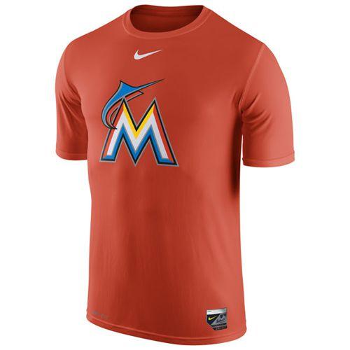 Miami Marlins Nike Authentic Collection Legend Logo 1.5 Performance T-Shirt Orange