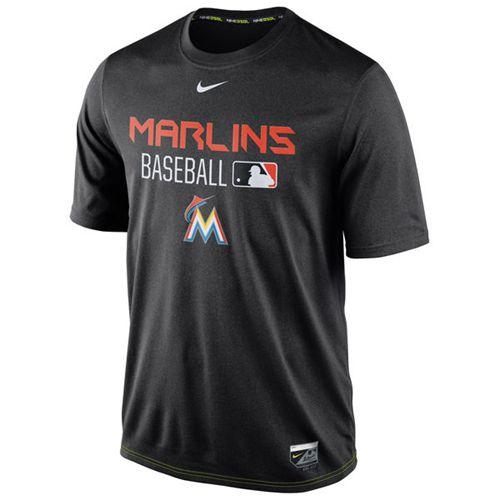Miami Marlins Nike Legend Team Issue Performance T-Shirt Black