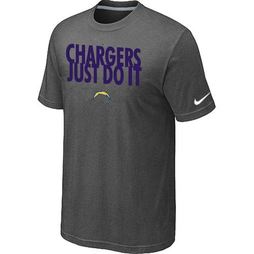 Nike San Diego Chargers Just Do It Dark Grey T-Shirt