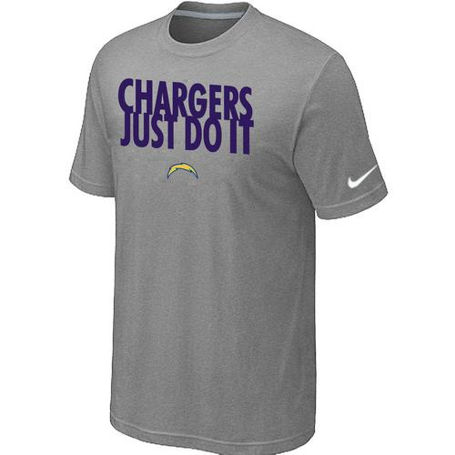 Nike San Diego Chargers Just Do It Light Grey T-Shirt