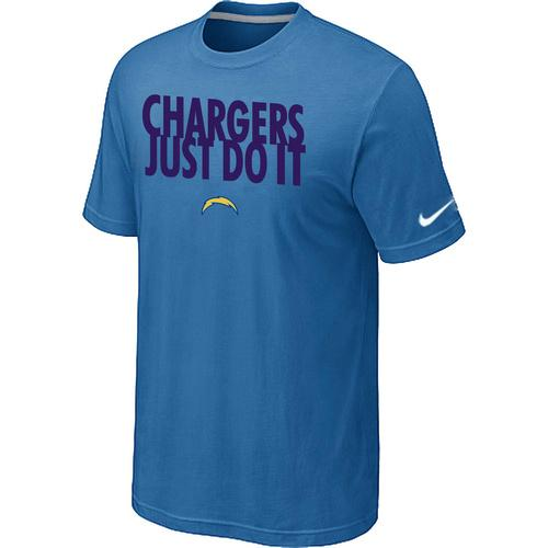Nike San Diego Chargers Just Do It light Blue T-Shirt
