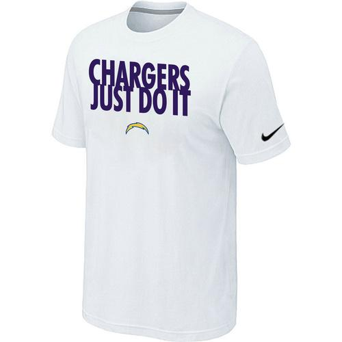 Nike San Diego Chargers Just Do It White T-Shirt