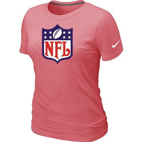 Women's Nike NFL Shield Pink Logo T-Shirt
