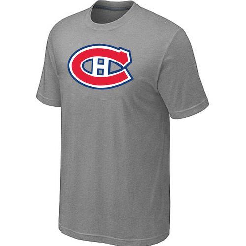 Montreal Canadiens Big & Tall Logo Grey NHL T-Shirt