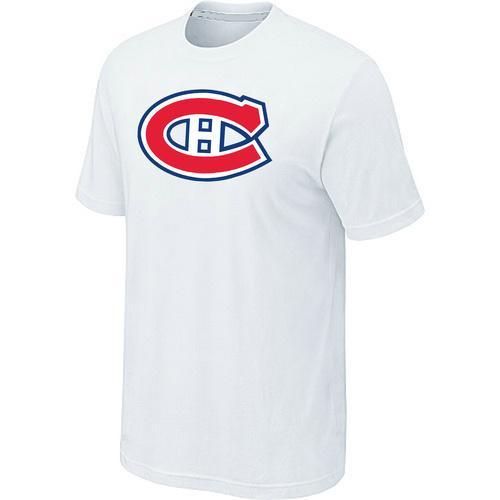 Montreal Canadiens Big & Tall Logo White NHL T-Shirt
