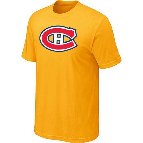 Montreal Canadiens Big & Tall Logo Yellow NHL T-Shirt