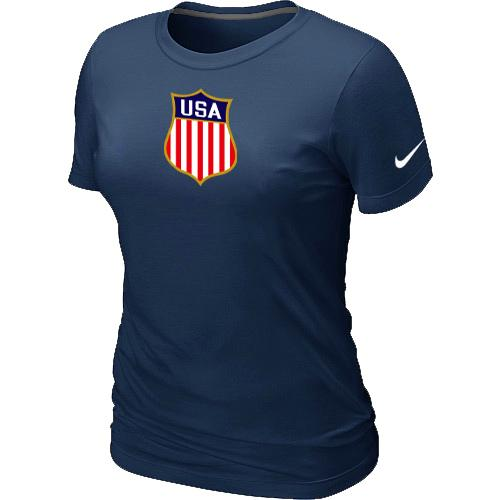 Women's Nike Team USA Hockey Winter Olympics KO Collection Locker Room T-Shirt Dark Blue