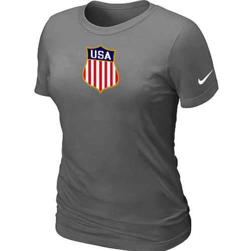 Women's Nike Team USA Hockey Winter Olympics KO Collection Locker Room T-Shirt Dark Grey