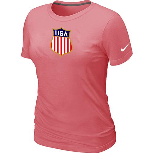 Women's Nike Team USA Hockey Winter Olympics KO Collection Locker Room T-Shirt Pink