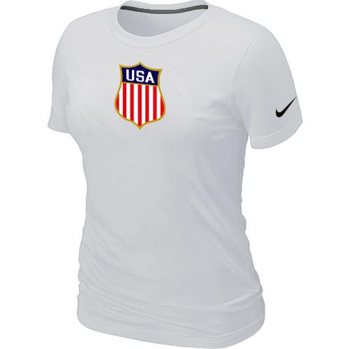 Women's Nike Team USA Hockey Winter Olympics KO Collection Locker Room T-Shirt White