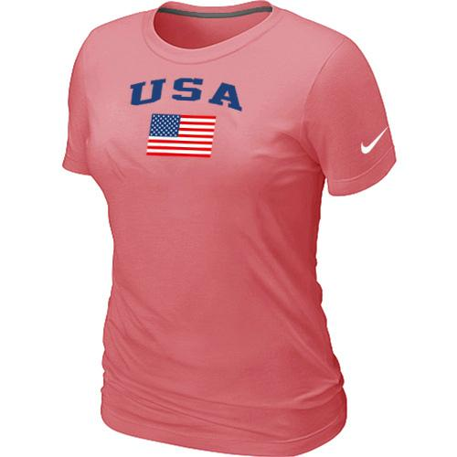 Women's USA Olympics USA Flag Collection Locker Room T-Shirt Pink