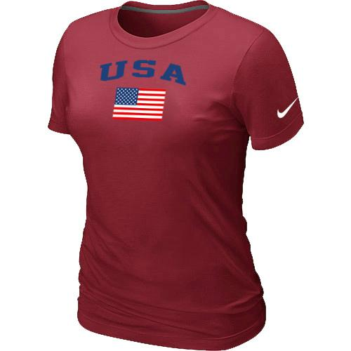 Women's USA Olympics USA Flag Collection Locker Room T-Shirt Red
