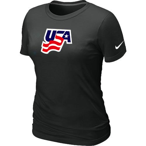 Women's Nike USA Graphic Legend Performance Collection Locker Room T-Shirt Black