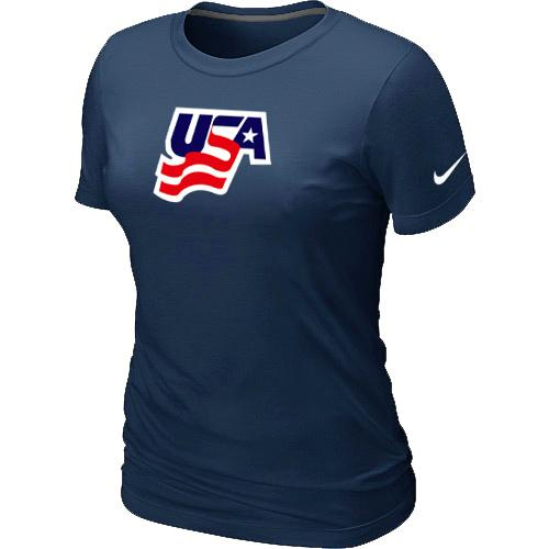 Women's Nike USA Graphic Legend Performance Collection Locker Room T-Shirt Dark Blue
