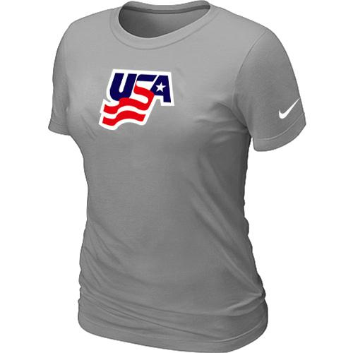 Women's Nike USA Graphic Legend Performance Collection Locker Room T-Shirt Light Grey