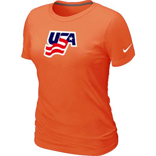 Women's Nike USA Graphic Legend Performance Collection Locker Room T-Shirt Orange