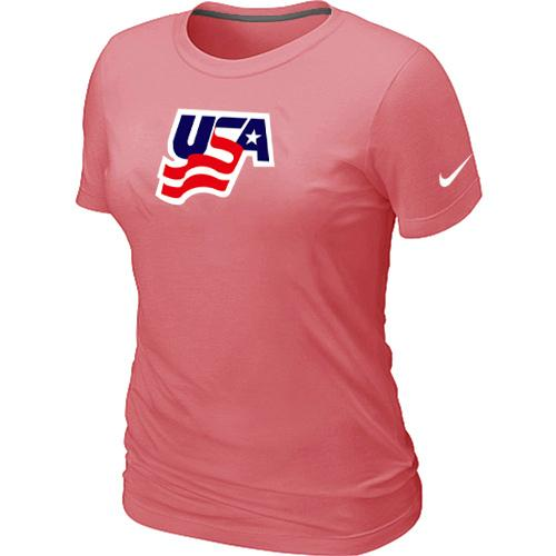 Women's Nike USA Graphic Legend Performance Collection Locker Room T-Shirt Pink